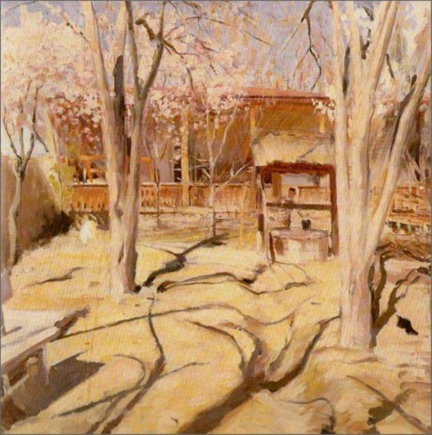Pavel Petrovich Benkov. Spring garden