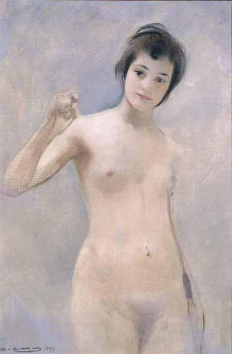 Ramon Casas i Carbó. Standing Nude (Nina)