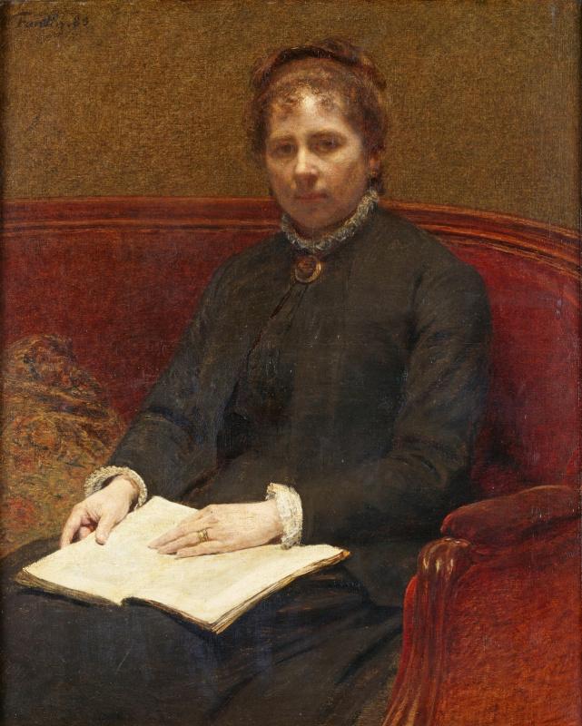 Анри Фантен-Латур. Портрет жены художника