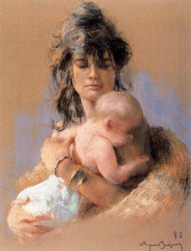 Каэтано де Аркер Буигас. Младенец на руках у матери