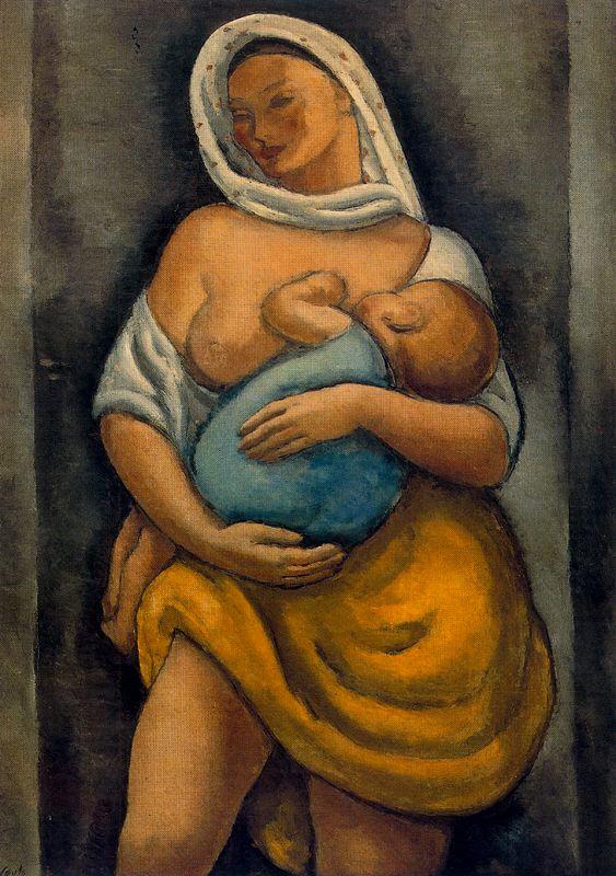 Артуро Соуто. Мать кормит ребенка