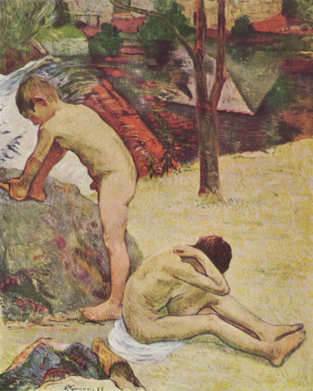 Paul Gauguin. The Breton boys bathing