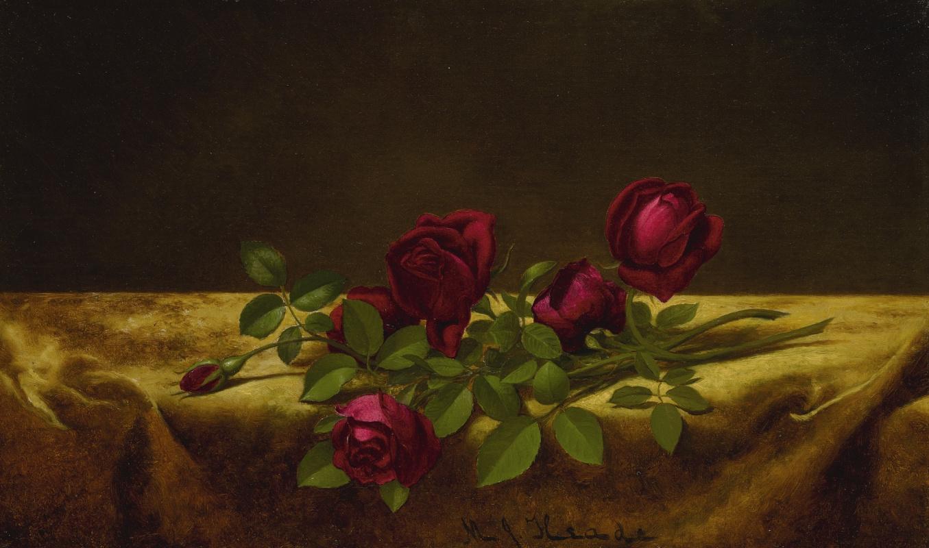 Martin Johnson Head. Roses on golden velvet