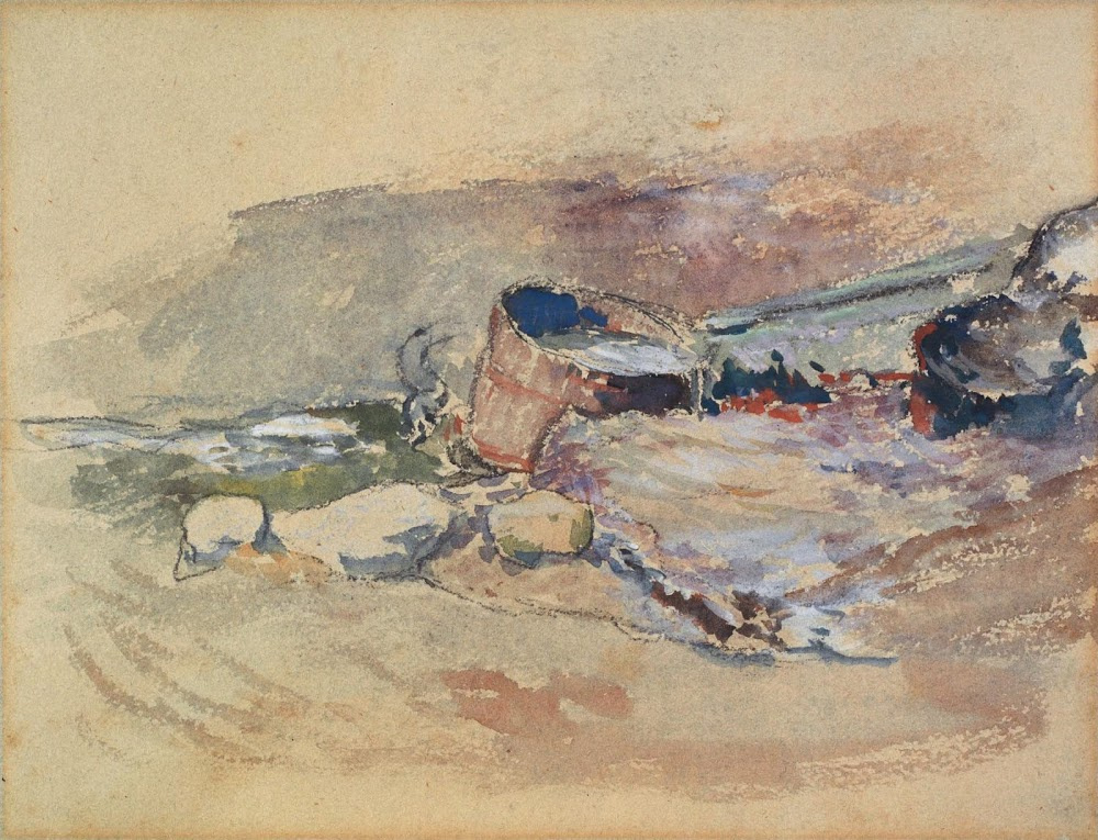 Paul Gauguin. Water Tub (recto of The Little Washerwoman)