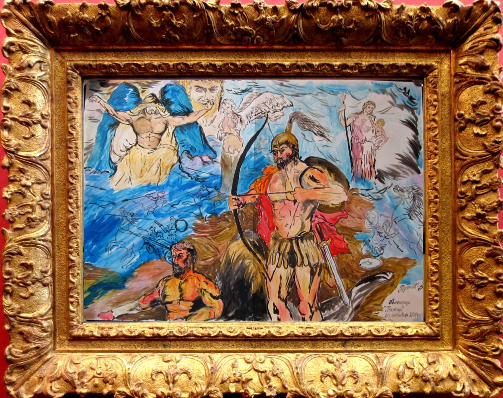 "Дмитрий Юрьевич Буянов. The mythological story ""Hector"" the Artist Dmitry Buyanov"