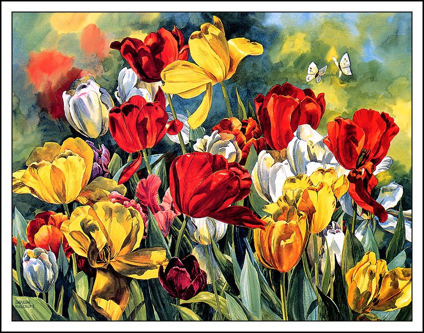 Sharon Hinckley. Dancing tulips