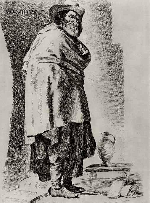 Франсиско Гойя. Менипп, с картины Веласкеса