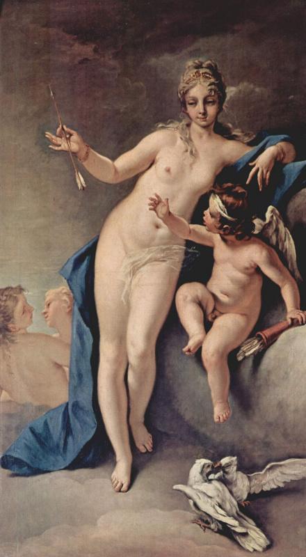 Sebastiano Ricci. Venus and Cupid