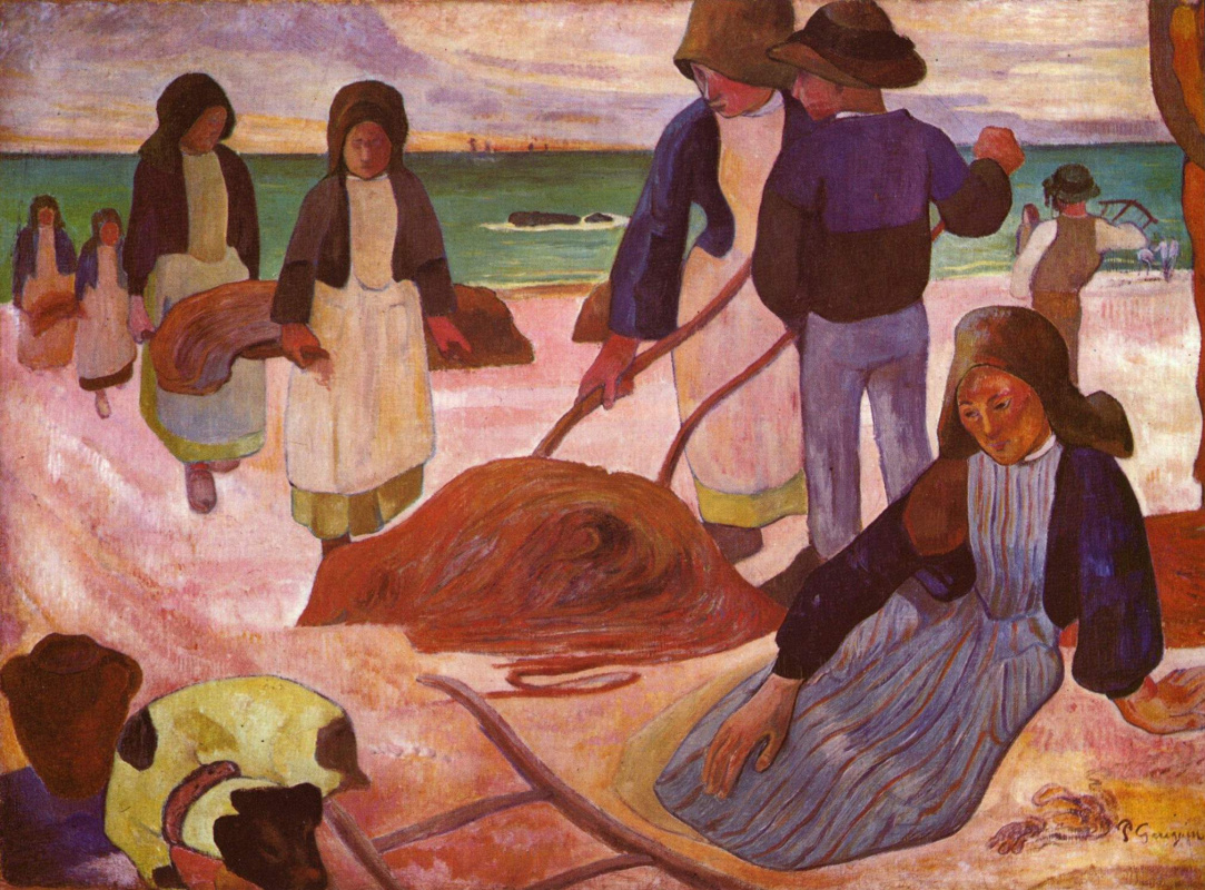 Paul Gauguin. Collectors of algae