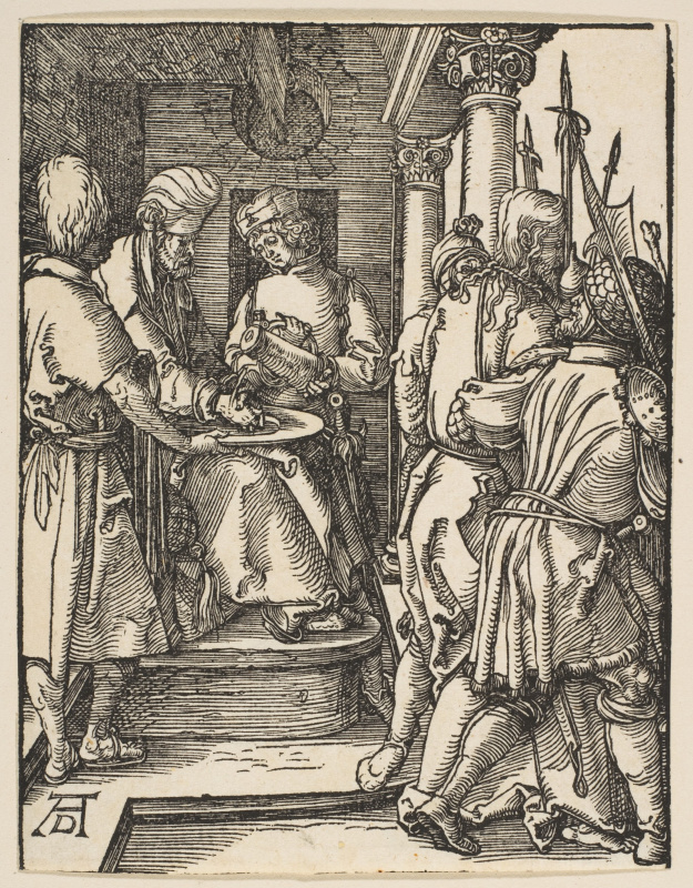 Albrecht Durer. Pilate, wash your hands