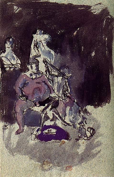 Пабло Пикассо. Клоун в профиль