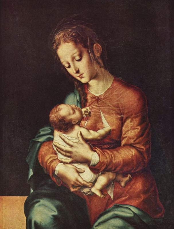 Луис де Моралес. Мария с младенцем