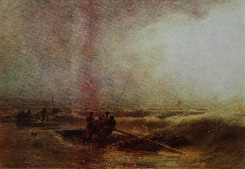 Ilya Efimovich Repin. Storm on the Volga. State Russian Museum.