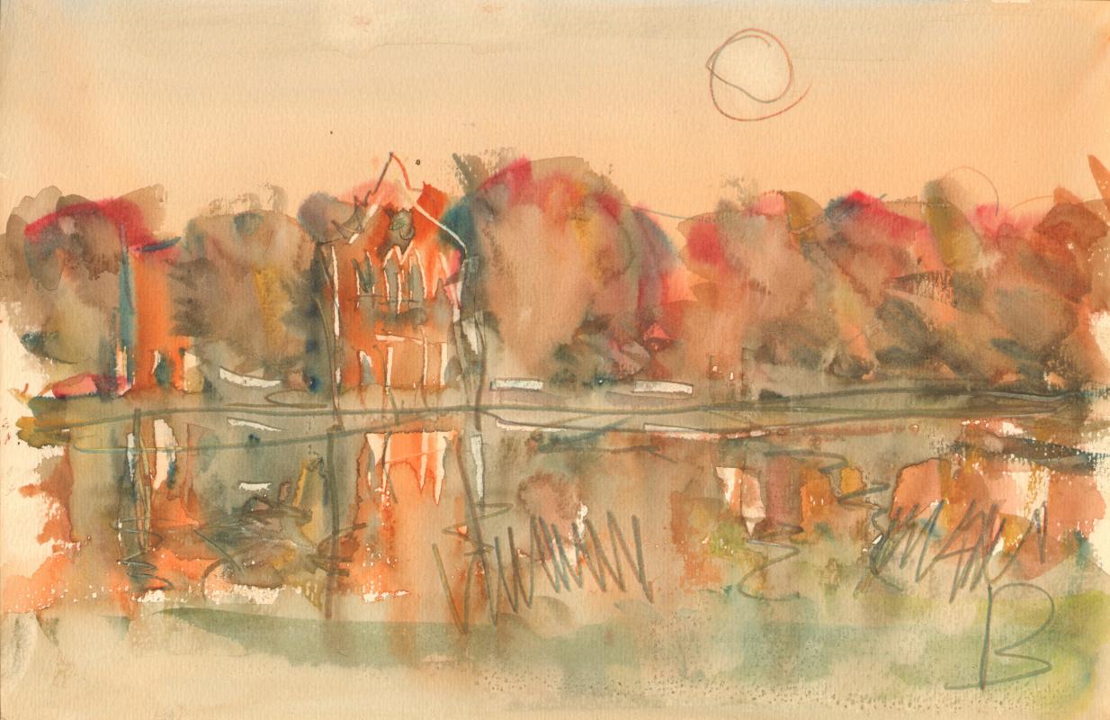 Вячеслав Крыжановский. Catherine Park. Moon over the Great Pond