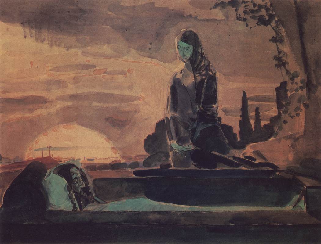 Mikhail Vrubel. Lamentation (the first sketch to the painting in the Vladimir Cathedral in Kiev)