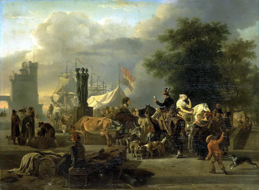 Жан-Луи Демарн. Базар в портовом городе