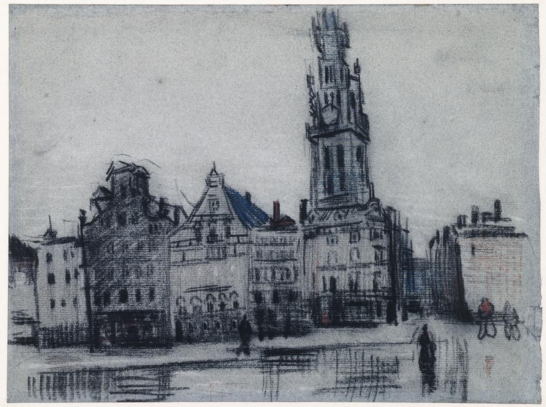 Vincent van Gogh. The big market in Antwerp