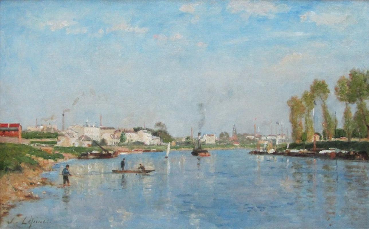 Stanislas Victor Eduard Lepin. The canal Saint-Denis near Paris