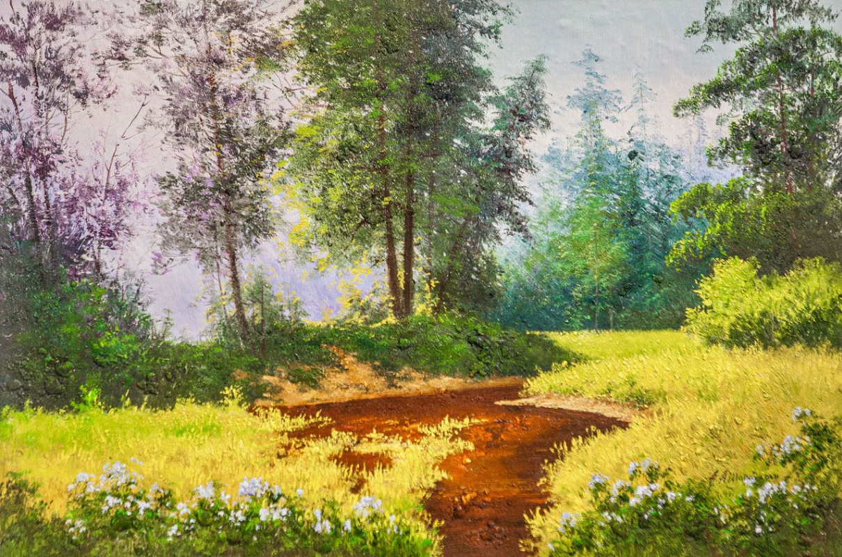 Andrey Sharabarin. Summer day in the forest