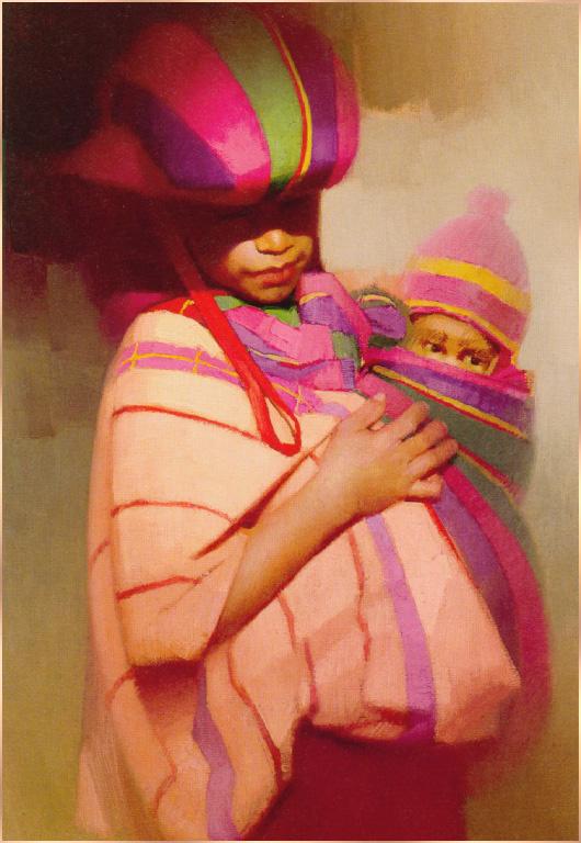Вм Е Шерер. Гватемальская мать с ребенком