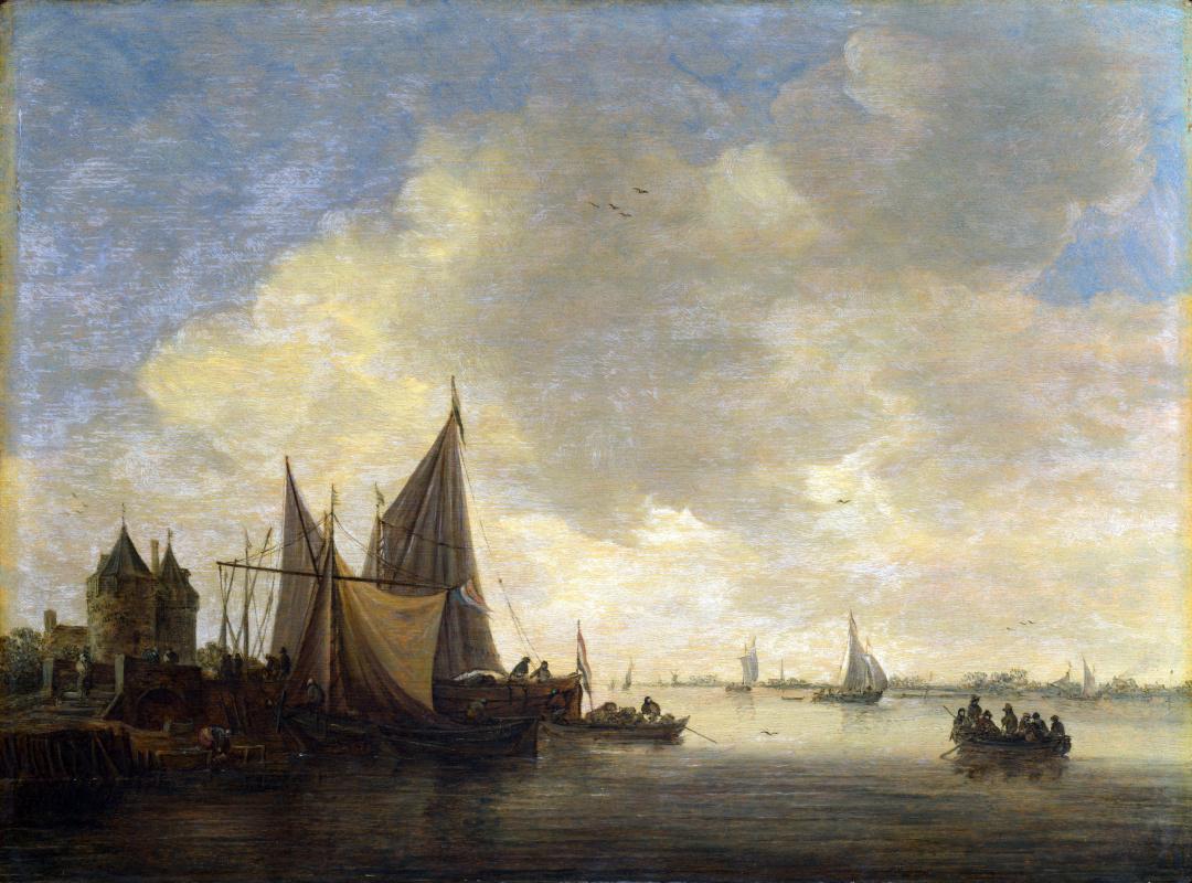 Ян ван Гойен. Вид на устье реки и ворота