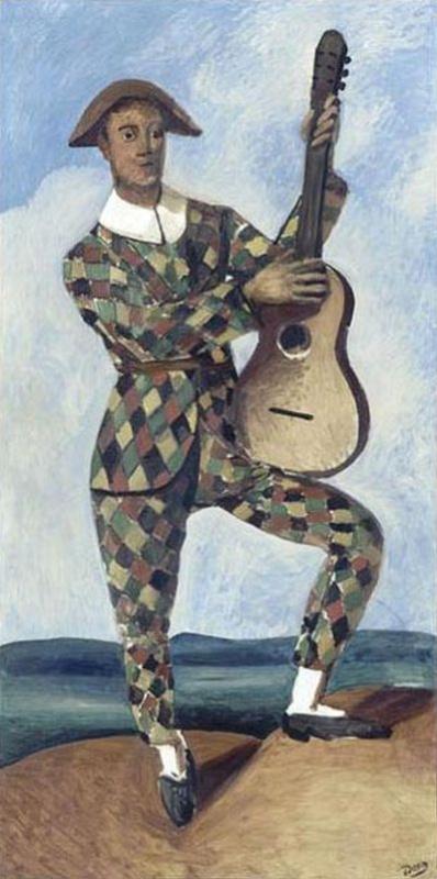 Андре Дерен. Арлекин с гитарой