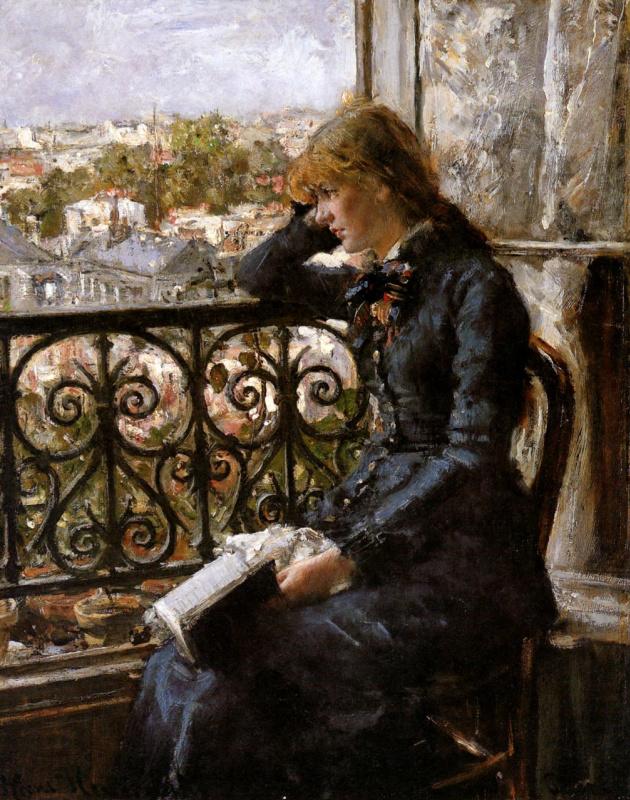 Ханс Хейердал. Девушка на балконе