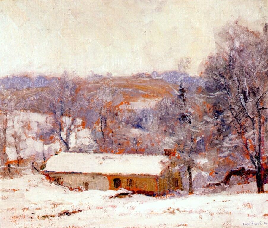 Джон Фрост. Зимний пейзаж
