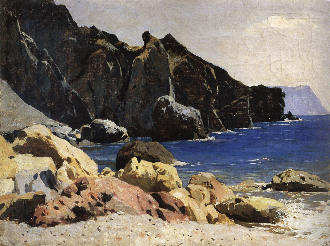 Isaac Levitan. The sea coast (Crimea)