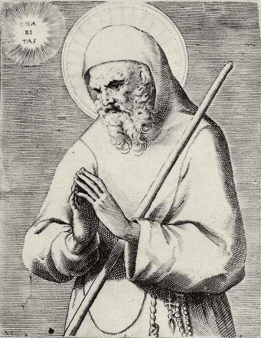 Агостино Карраччи. Святой Франциск