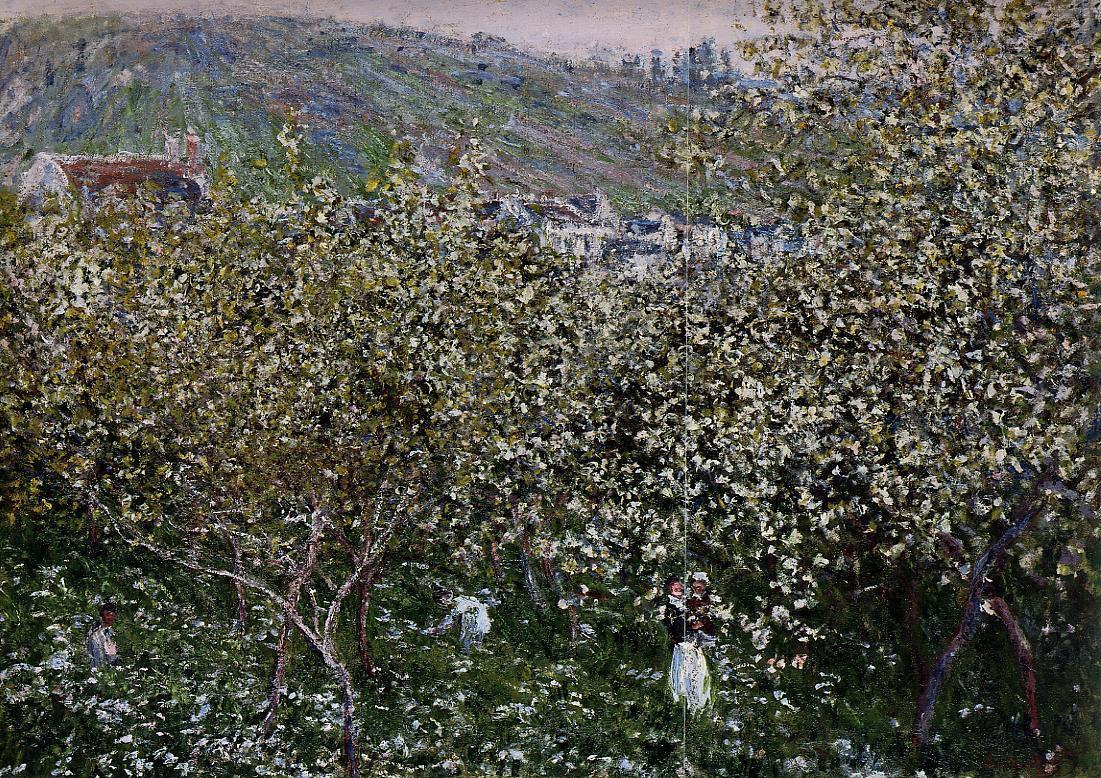 Клод Моне. Ветёй, цветущие сливы