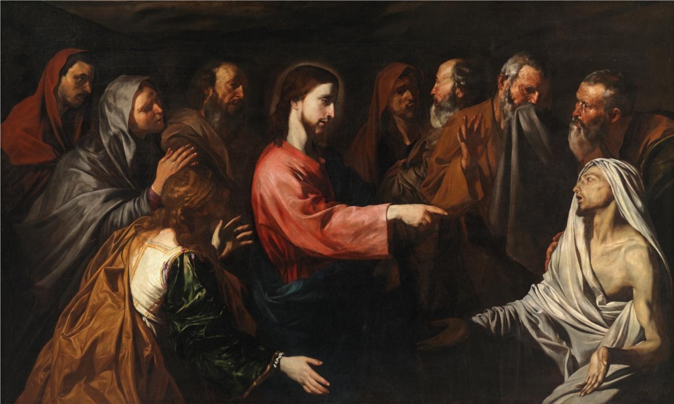 Джузепе де Рибера. Воскрешение Лазаря