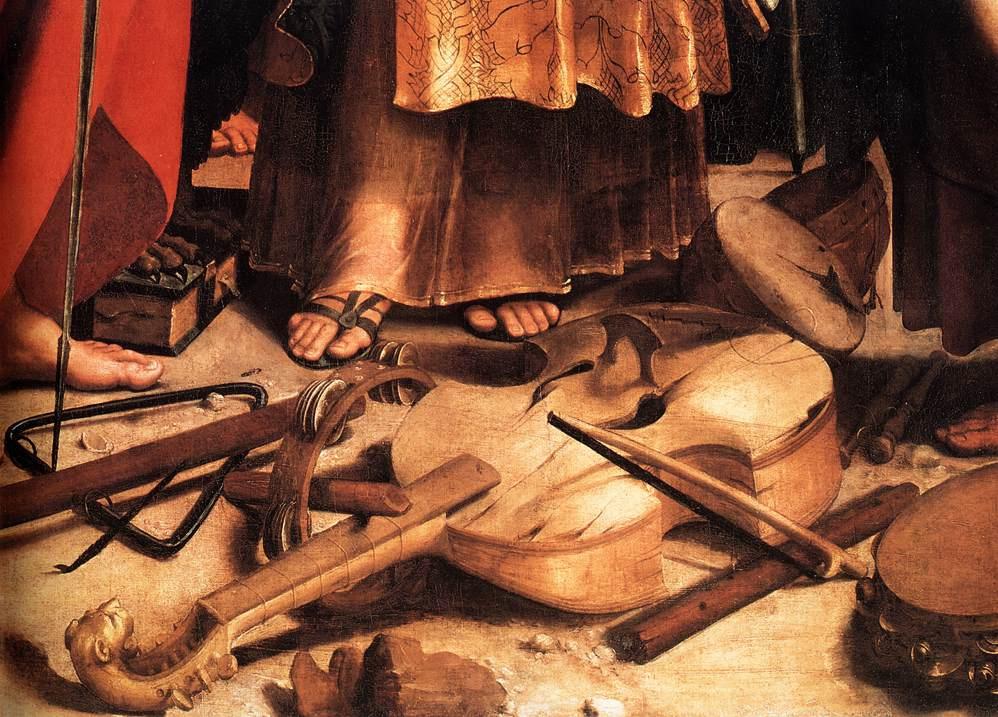 Рафаэль Санти. Святая Сесилия со Святыми Павлом, Иоанном Евангелистом, Августином и Марией Магдалиной. Фрагмент3