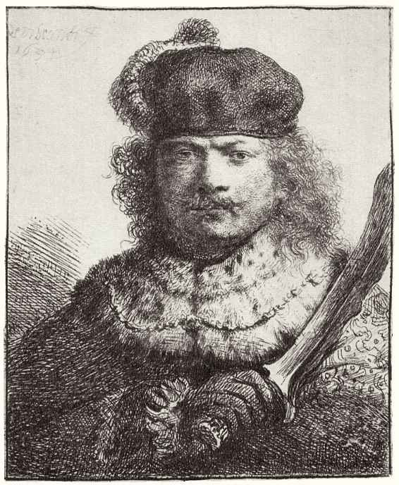 Рембрандт Ван Рейн. Автопортрет с саблей