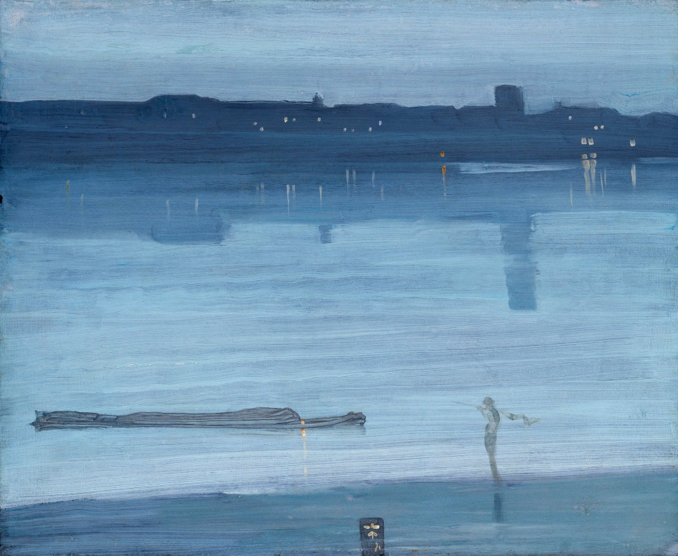 James Abbot McNeill Whistler. Nocturne in blue and silver. Chelsea