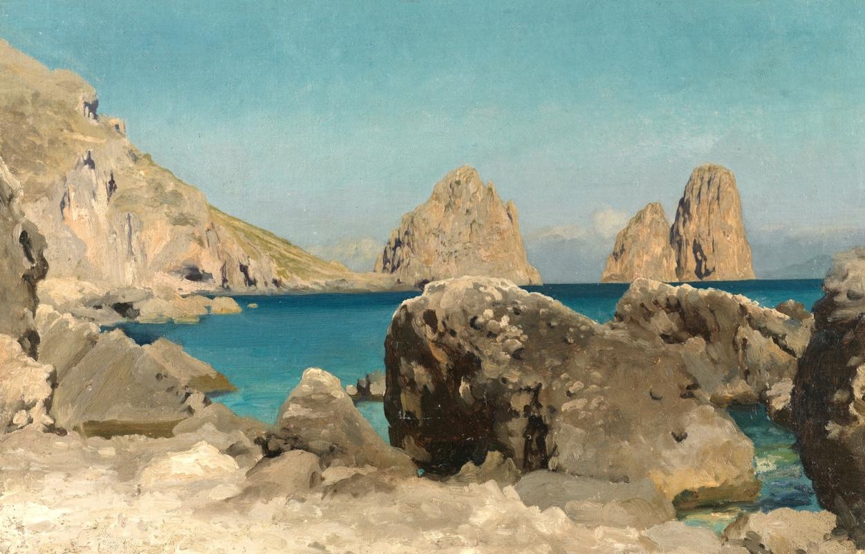 Frederic Leighton. Cliffs of the Sirens (Capri Island)