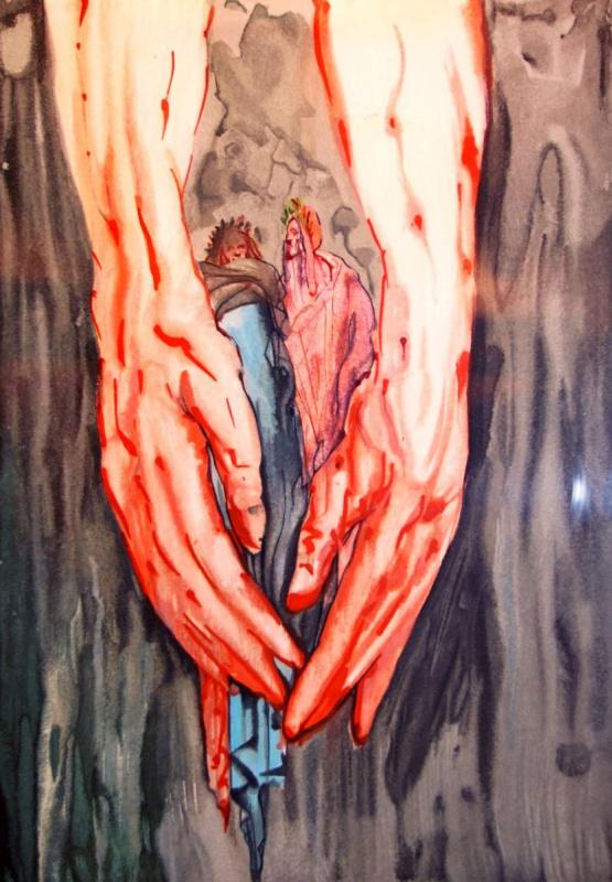"""Сальвадор Дали. В руках Антея (Иллюстрация к """"Божественной комедии"""")"""