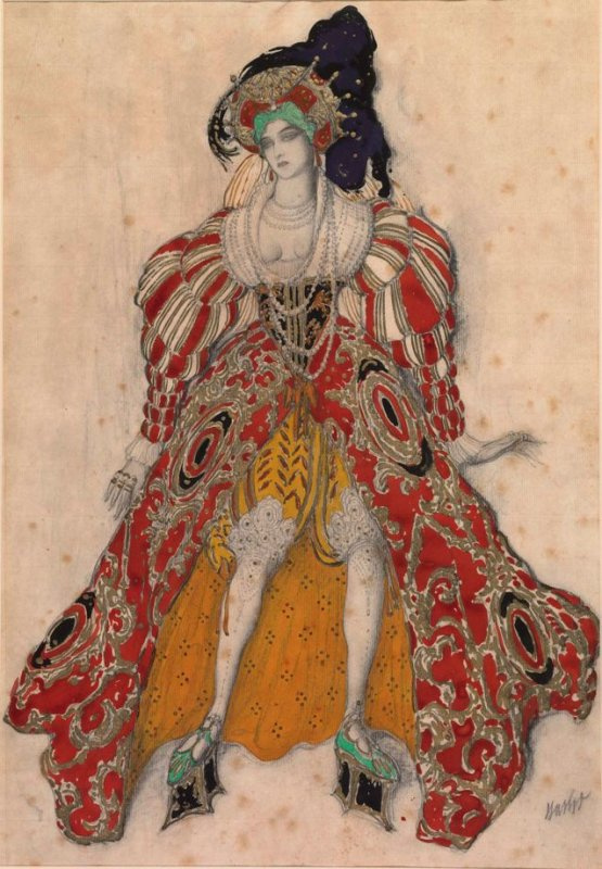 Lev (Leon) Bakst. Costume design for Potiphar's wife in the ballet, The Legend of Joseph