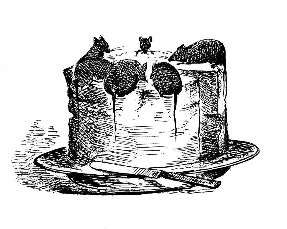 Обри Бердслей. Крысолов. Иллюстрация для программки школьной постановки