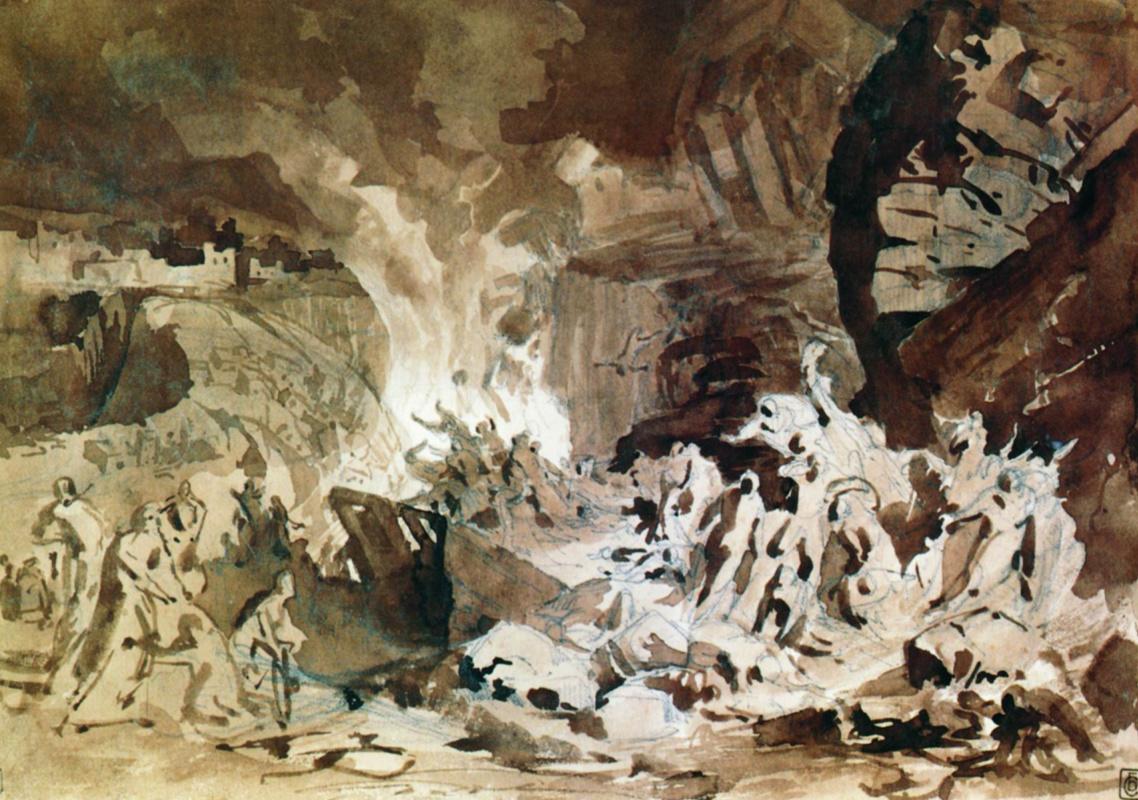 Генрих Ипполитович Семирадский. The destruction of Sodom (sketch)
