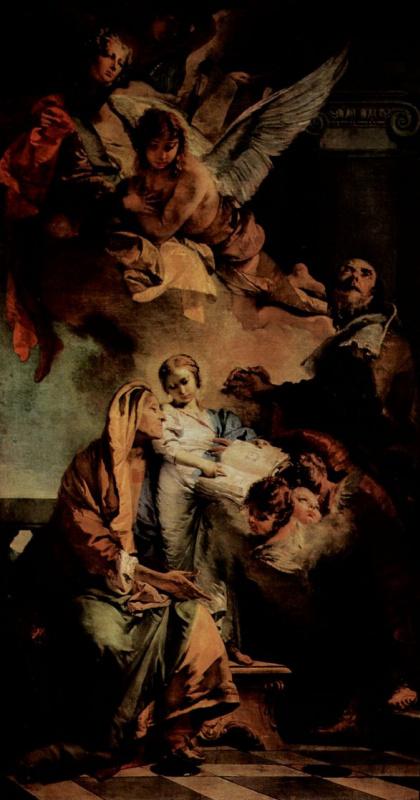 Джованни Доменико Тьеполо. Воспитание Марии