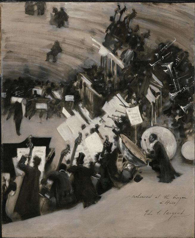 John Singer Sargent. Orchestra rehearsal of Jules Etienne Bastard