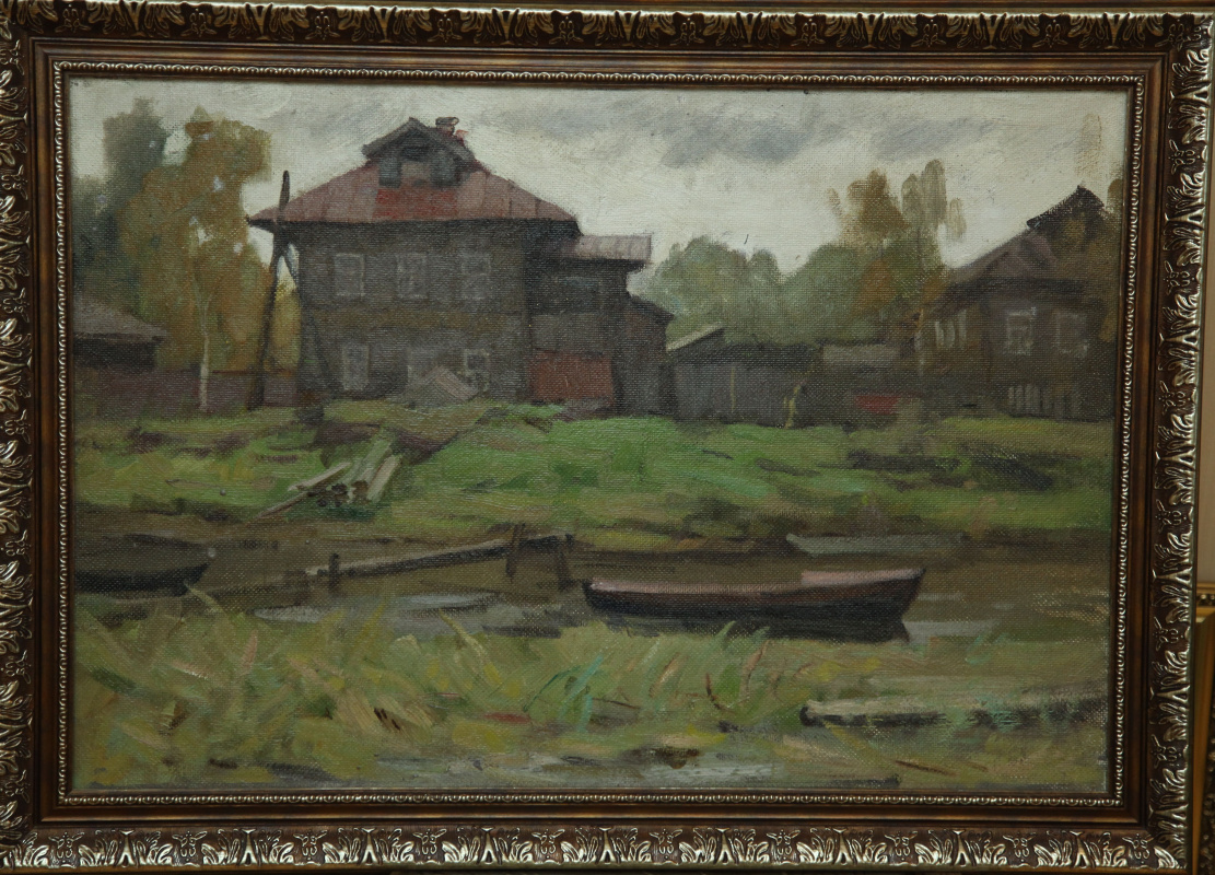 Boris Alexandrovich Bulkin. Old Solombala fall