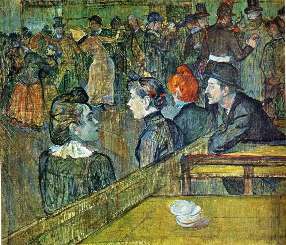 Henri de Toulouse-Lautrec. Ball at the Moulin de La Galette