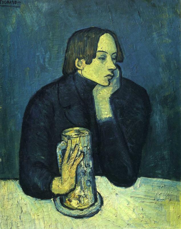 Пабло Пикассо. Портрет Хайме Сабартеса (Кружка пива)