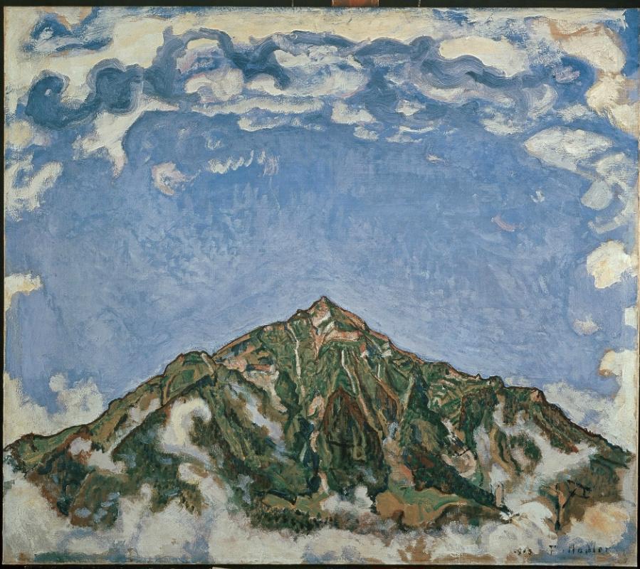 Фердинанд Ходлер. Гора Низен со стороны Хойстриха