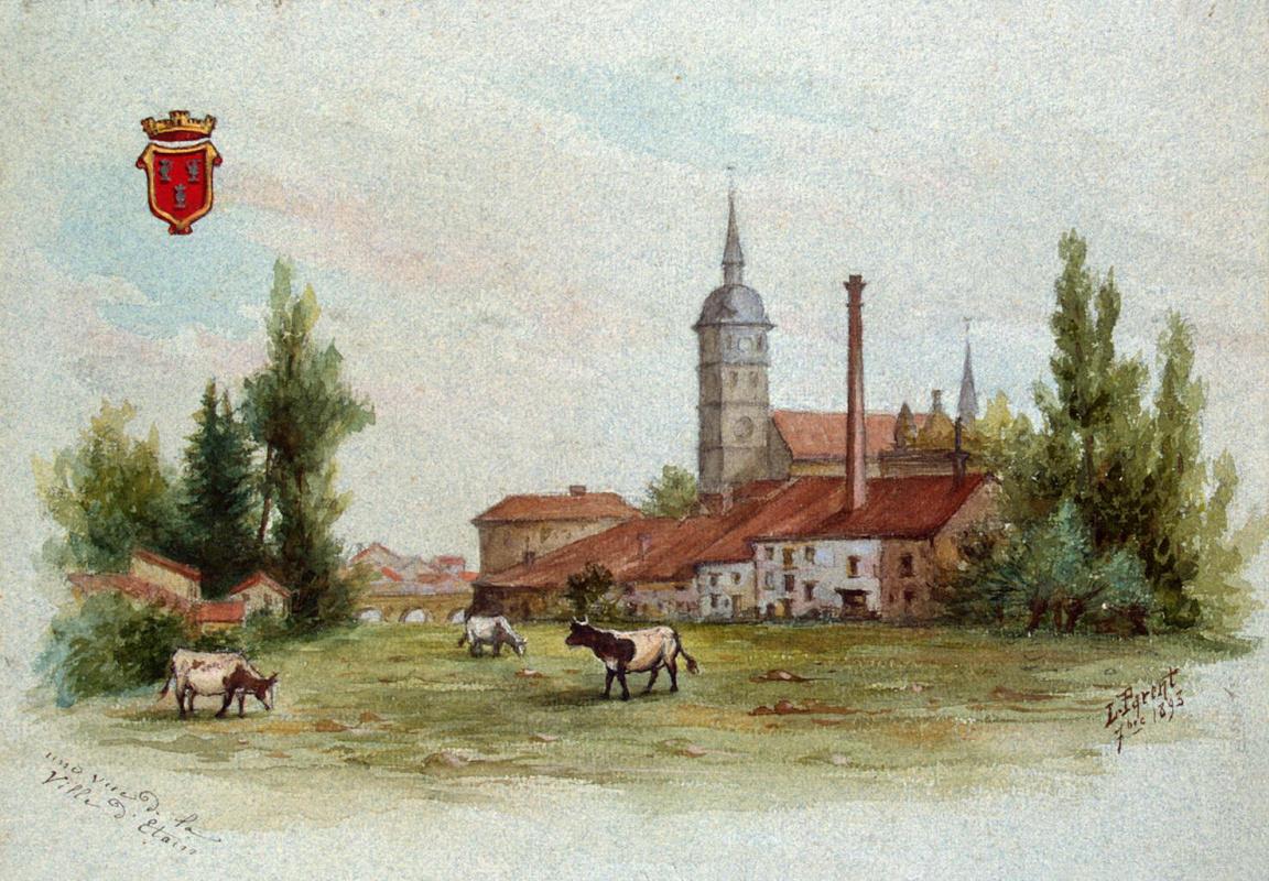 Леон Паран. Вид города Этена