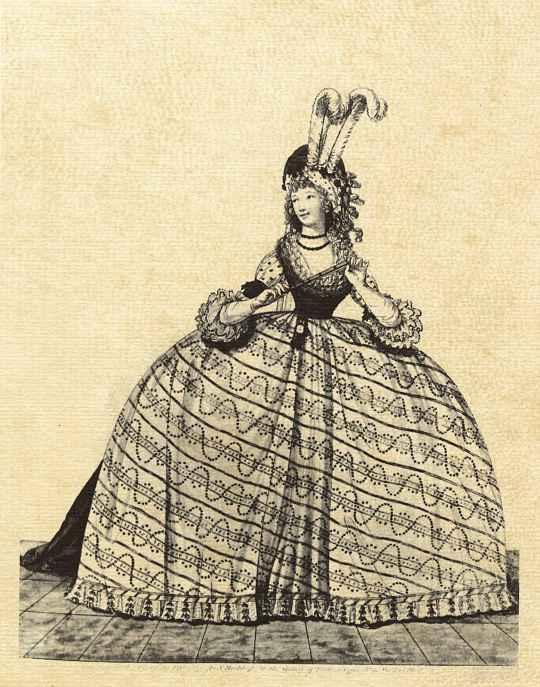 Платье для приема при дворе