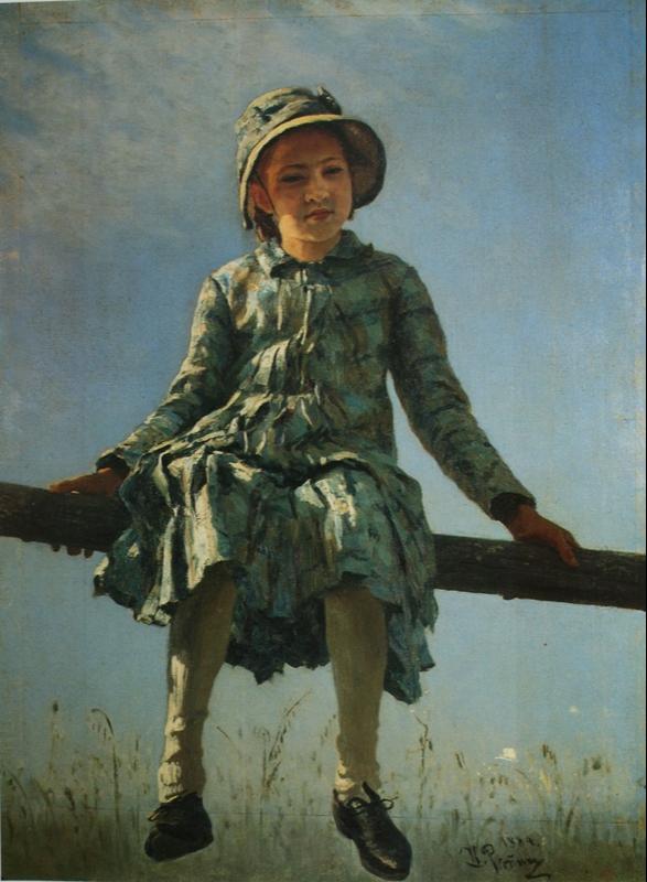 Ilya Efimovich Repin. Dragonfly. Portrait of V. I. Repina. State Tretyakov Gallery.