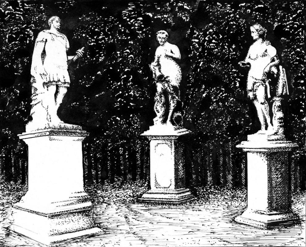 Vladimir Vasilyevich Abaimov. The Conversations in the Tuileries Garden